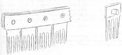 Sketch of Comb and Teeth inserts
