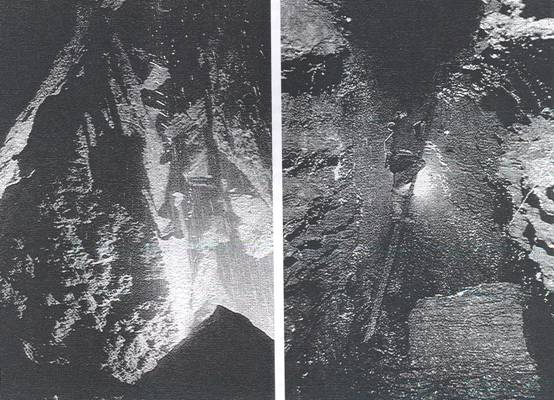 63276a324691 Left: Arête Pitch minus the fixed ladder Photo: Pete Glanvill Right: Pete  Rose on the Lower Ledge Pitch Photo: Pete Glanvill