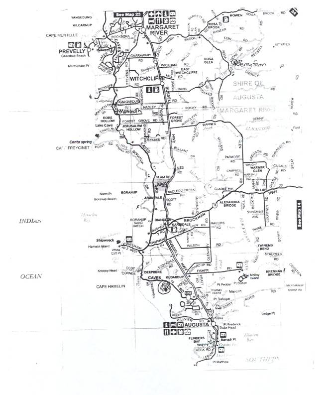 mike wilson's map of the area visited in western australia
