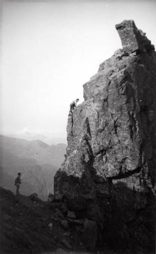 Janet Gotts and Tony Dunn Inaccessible Pinnacle, Coolins, Skye, 1955